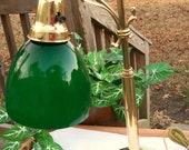 Articles similaires laiton massif vintage banquier - Lampe de bureau banquier laiton verre vert ...