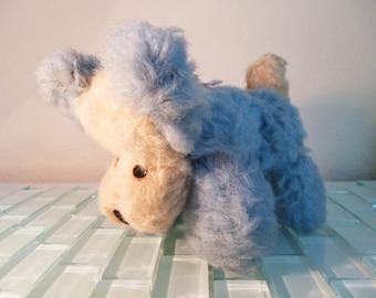 Mohair Blue Puppy Dog Stuffed Animal England