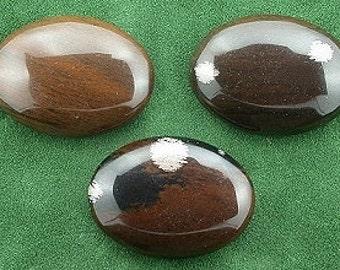 one 30x22 oval mahogany obsidian cabochon gem gemstone