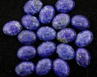 one 20mm x 15mm oval lapis cabochon 20x15 gem  gemstone