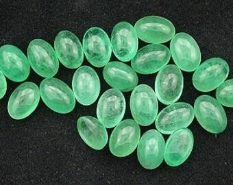 6mm x 4mm emerald cabochon gem stone gemstone free ship