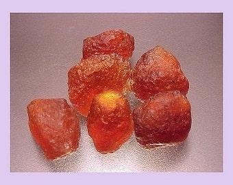 7plus grams of large hessonite garnet rough