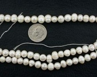 large white freshwater pearls 16inch strand