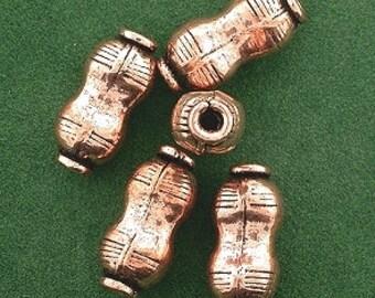 five pure copper 15x7 peanut casted designer bead