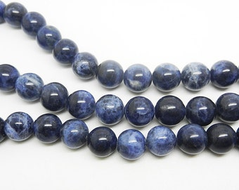 16  inch  Sodalite Round Beads, Sodalite  loose beads----10MM 8MM