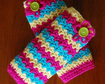Crochet Pattern: Making Waves Leg Warmers w/ Permission to sell finished item, 6 sizes