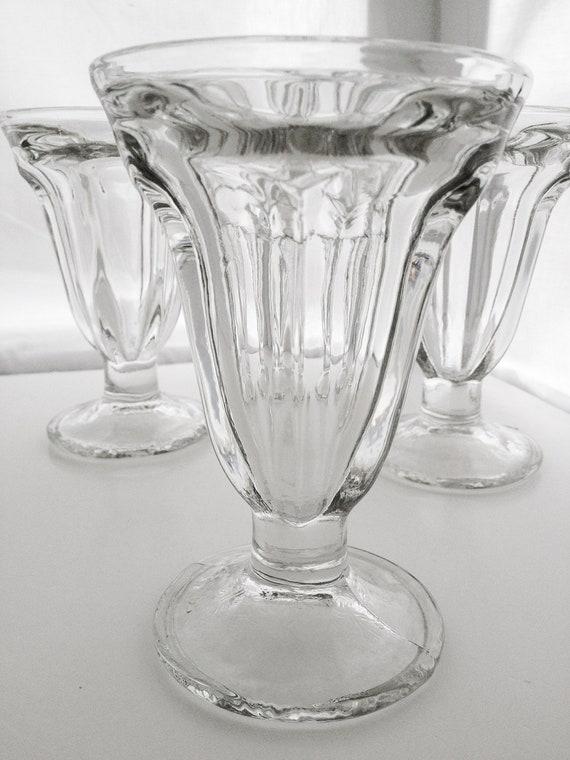 vintage tall 50s ice cream sundae party parfait glasses set. Black Bedroom Furniture Sets. Home Design Ideas