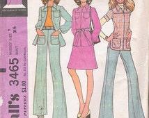 70s Womens Suit Patterns Skirt Patterns Pants Patterns 1970s Vintage McCalls 3465 Size 8 Patterns B31 Uncut Sewing Patterns VintageYacketUSA