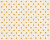 1 Yd  - White/ Yellow Dot from RJR Fabrics Crazy for Dots & Stripes - Yardage