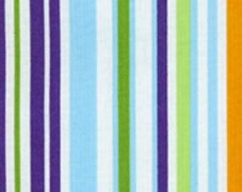 Fat Quarter Light Blue/ Royal Stripe from RJR Fabrics Crazy for Dots & Stripes