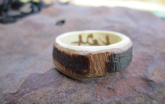 Hand Carved Wooden Ring