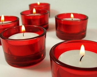 Red Tealight Candle Holders