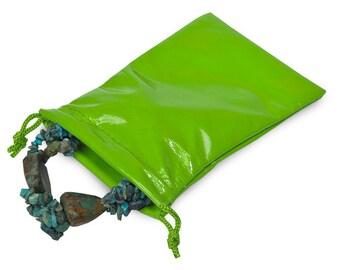 Green Soft Vinyl Gift Bag