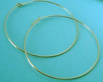 10pcs 30mm 14k gold filled round beading hoop earring wire ear wire earwire E17g