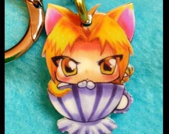 Fullmetal Alchemist Ed Kitty Teacup Keychain