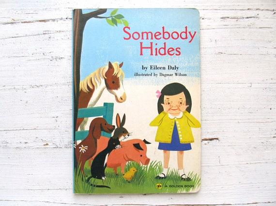 Somebody Hides - Vintage Children's Book 1960's