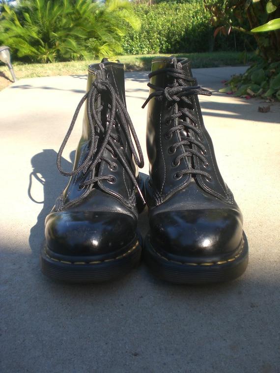 Dr.Martens 8 Eye Boots, Black, Size UK 7, US 8