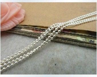 5m 16ft 1.5mm Antique silver Chain metal charm pendant g1002