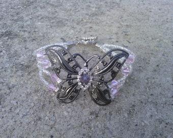 Butterfly Swarovski Crystal Bracelet