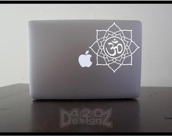 Ohm Flower     - Macbook Air, Macbook Pro,  Macbook decals, sticker ,Vinyl Mac decals ,Apple Mac Decal, Laptop, iPad