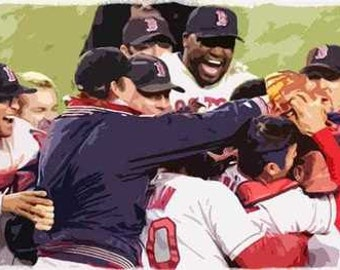 Boston Red Sox Ortiz Rare Team Art Lithograph