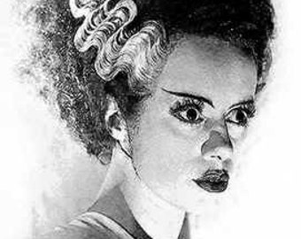 Rare Bride of Frankenstein Art Lithograph LE of 50