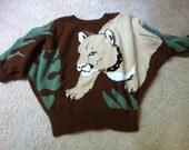 Puma with Jeweled Collar Sweater