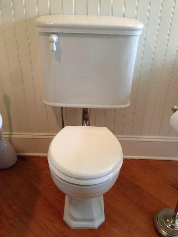 vintage peerless toilet bowls tanks qty 1 3 available. Black Bedroom Furniture Sets. Home Design Ideas