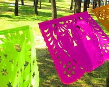 Buy one and get one for FREE, Mexican banner, aztec home decor, tribal, papel picado banner, decoration, mexican party decor, Weddings