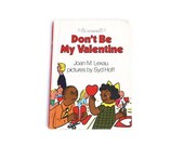 Don't Be My Valentine by Joan M. Lexau, Red, vintage book