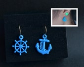 Anchor Stud Earrings Cute Earrings Bright Anchor Ship Steering wheel Earing