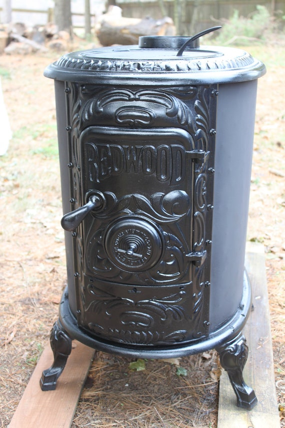 RESERVED Mike Antique 1800s 1850 Redbox 25 Cast Iron Wood - Antique Cast Iron Wood Stove WB Designs