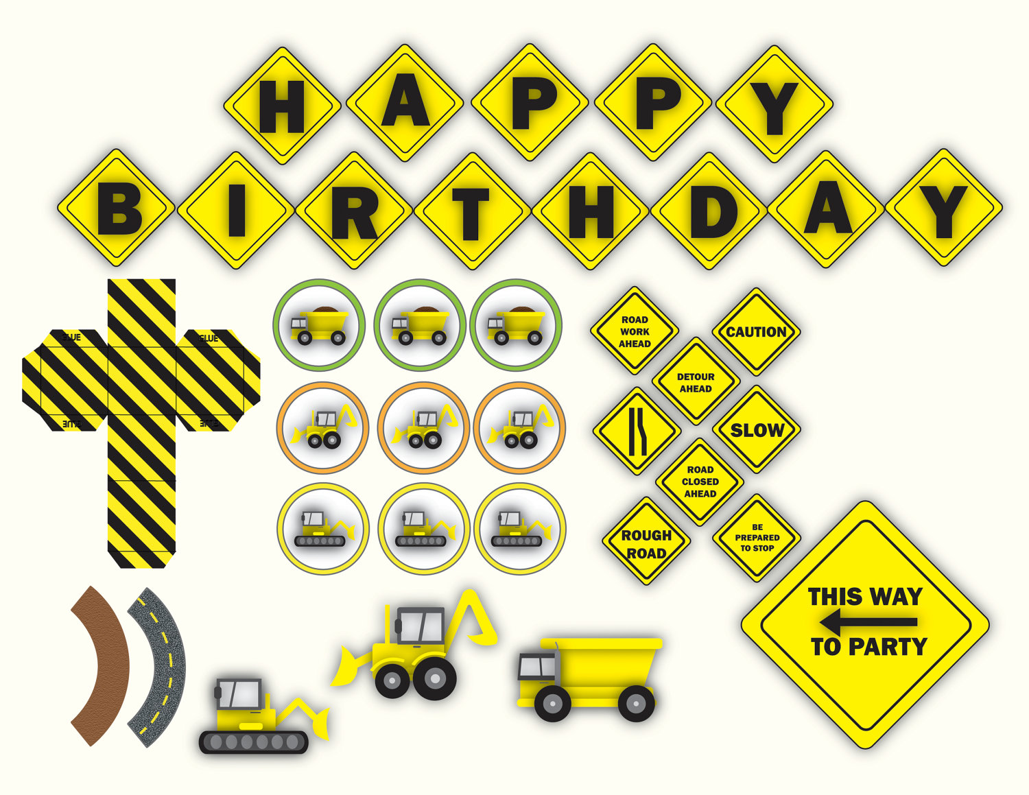 It is a graphic of Handy Construction Birthday Party Printables