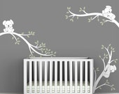 White Tree Decal Baby Room Wall Art Tree Wall Decals Baby White - Koala Tree Branches by LittleLion Studio