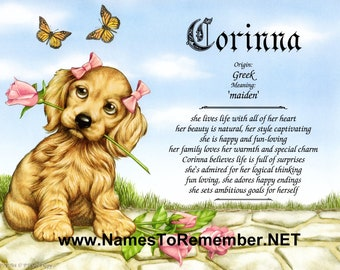 Personalized Name Meaning Gift... 5 to Choose from...
