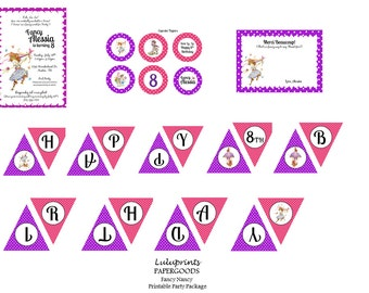 Fancy Nancy Printable Party Package - Birthday Party