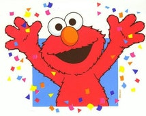 Elmo T-Shirt Iron on Transfer w/FREE Personalization and FREE SHIPPING