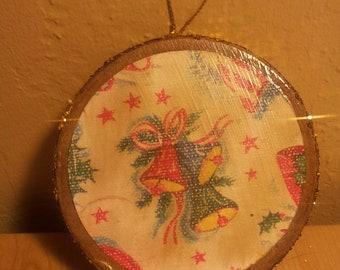 handmade Paper Mache Christmas Ornament