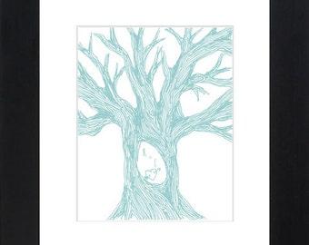 CUSTOM tree carving digital poster