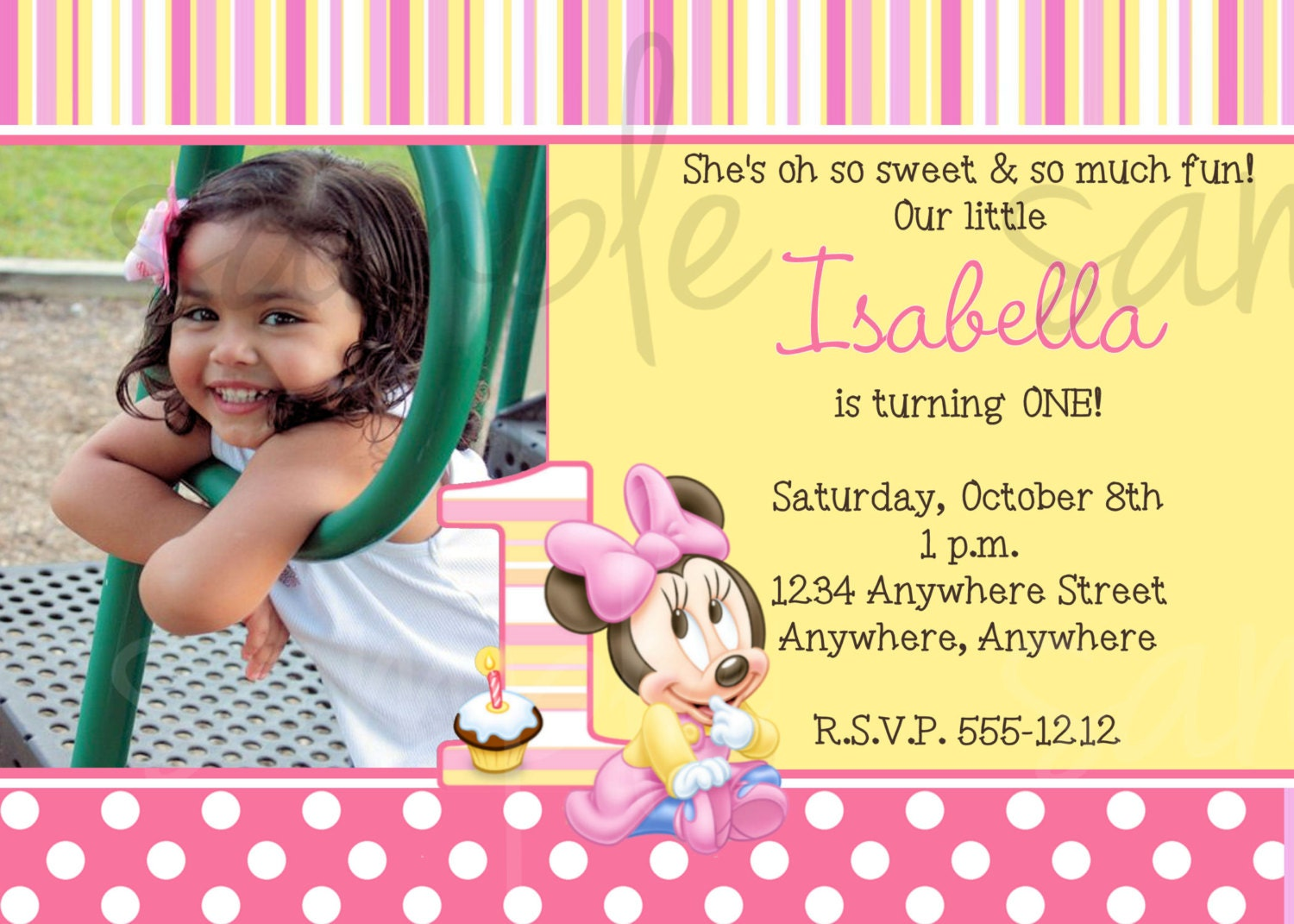 Minnie Mouse Bday Invitations with great invitation layout
