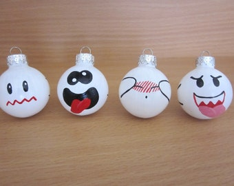 Ghost Small/Mini Ornament Set of 4