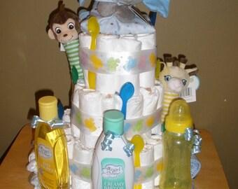 Handmade Diaper Cakes, Diaper, and Washcloth Wreaths