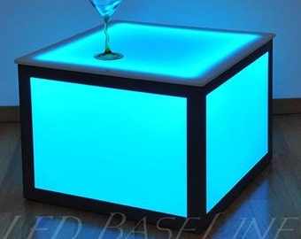 "21"" Led Cube End Table Color Changing Bar or Home"