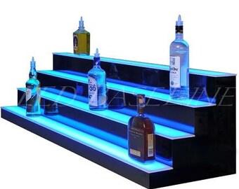 """4 Step  58"""" in length Bar or Home Led Shelf Bottle Glorifier"""