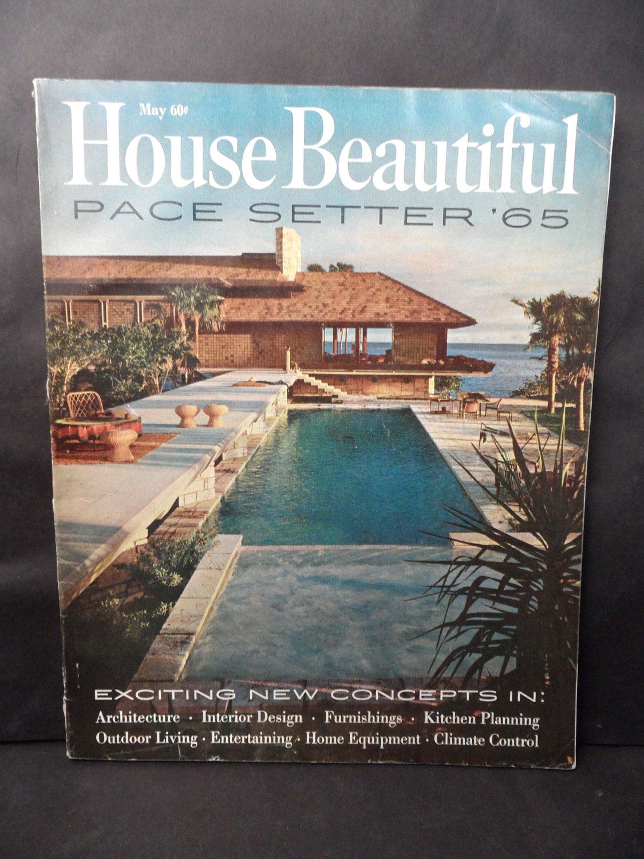 1965 House Beautiful Magazine Issue May 1965 Mid Century