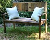 custom order for cory reclaimed wood bench