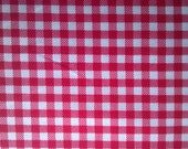 Red gingham fabric by Michael Miller, by the yard, Children's Play by Sarah Jane, 100% Cotton, 1/4 Inch Checks