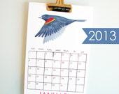 2013 Calendar - watercolor illustrations - New England nature