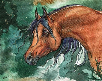 Fairytale Bay Horse watercolor painting