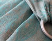 Custom Order Ring Sling, Baby Sling, Turquoise Grey Sling, Linen Sling